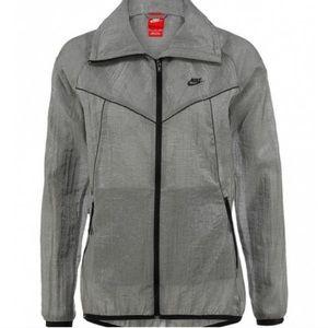 Nike Tech Sheer Jacket Grey Black Trim Small